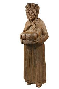 19TH C. TRADE SIGN - Life-Sized Figure of a Baker Woman