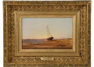 """CHARLES HENRY GIFFORD (MA, 1839-1904) - """"Beached"""