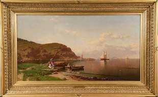 "ALFRED THOMPSON BRICHER (NY/NH, 1837-1908) - ""Near Cape"