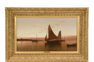 "ALFRED THOMPSON BRICHER (NY/NH, 1837-1908) - ""Twilight"