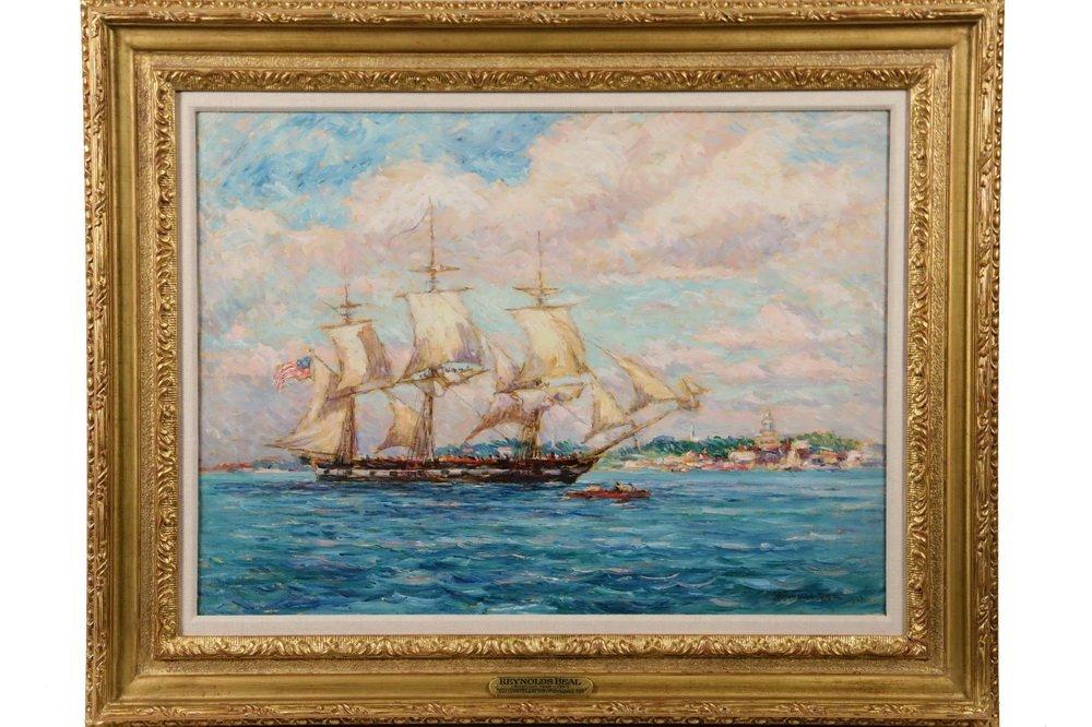 """REYNOLDS BEAL (MA/RI/NY, 1866-1951) - """"USS"""