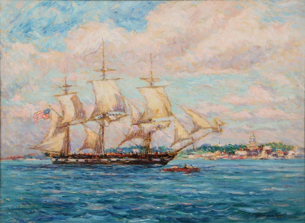 """REYNOLDS BEAL (MA/RI/NY, 1866-1951) - """"USS - 2"""