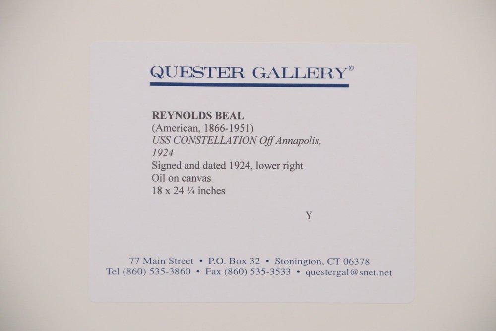 """REYNOLDS BEAL (MA/RI/NY, 1866-1951) - """"USS - 6"""