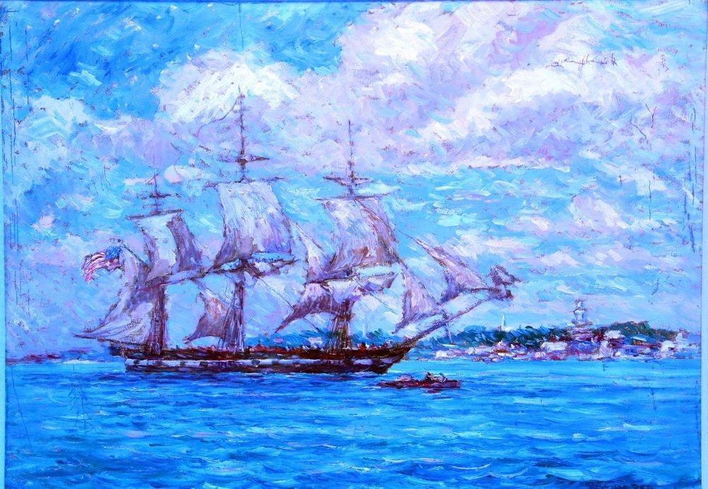 """REYNOLDS BEAL (MA/RI/NY, 1866-1951) - """"USS - 7"""
