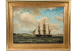 "REYNOLDS BEAL (MA/RI/NY, 1866-1951) - ""USS Hartford Off"