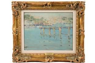 "JANE PETERSON (MA, NY/KS/IL, 1876-1965) - ""Old Pier,"