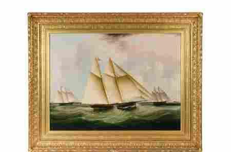 """JAMES EDWARD BUTTERSWORTH (NJ/NY/UK, 1817-1894) - """"The"""