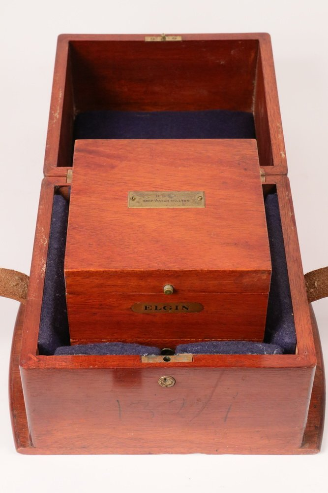 SCARCE DOUBLE CASED WWII VINTAGE ELGIN SHIP CHRONOMETER - 3