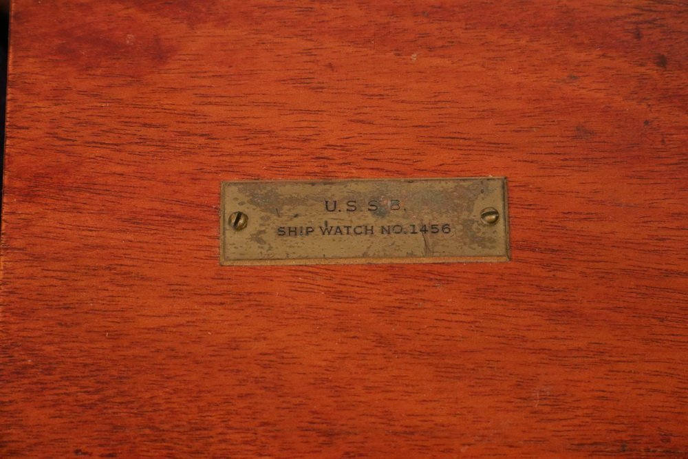 SCARCE DOUBLE CASED WWII VINTAGE ELGIN SHIP CHRONOMETER - 4