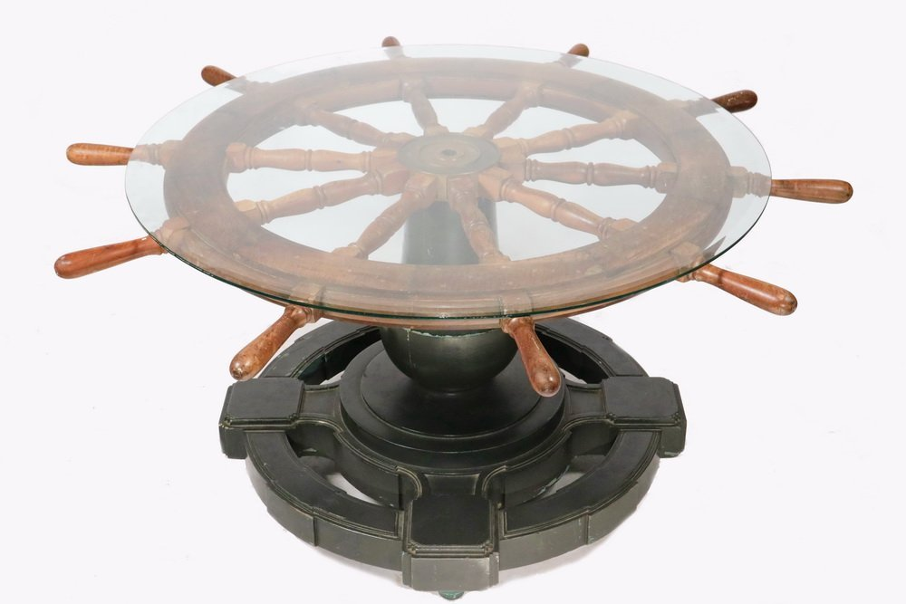 NAUTICAL THEMED CENTER TABLE - Round Table made up from
