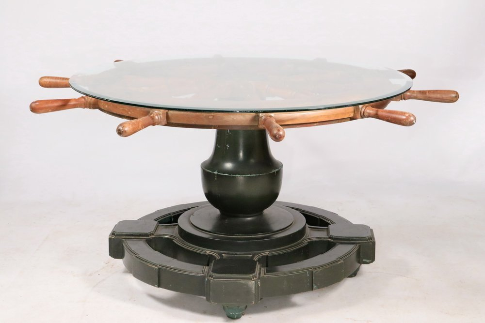 NAUTICAL THEMED CENTER TABLE - Round Table made up from - 2