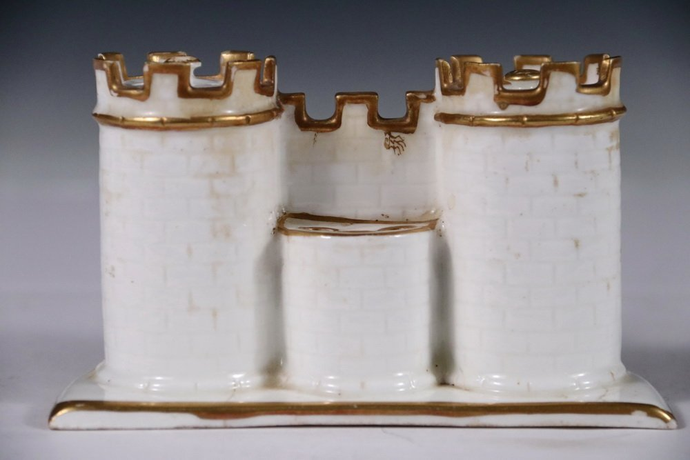 MINTON PORCELAIN INKWELL - Double Inkwell in the form - 2