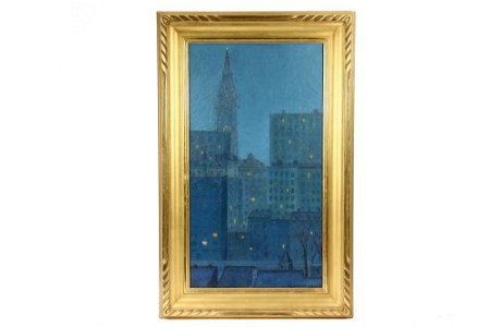 """COLIN CAMPBELL COOPER (CA/PA, 1856-1937) - """"New York"""