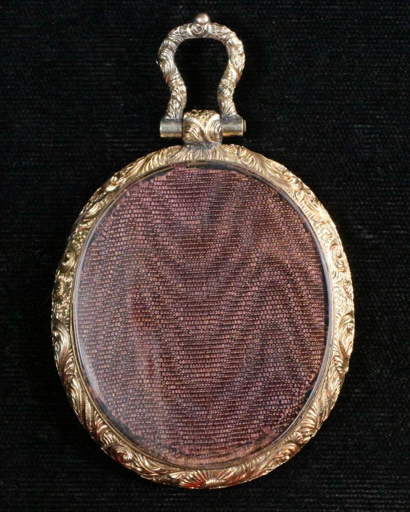 MINIATURE PORTRAIT - Early 19th c. Oval Portrait on - 2