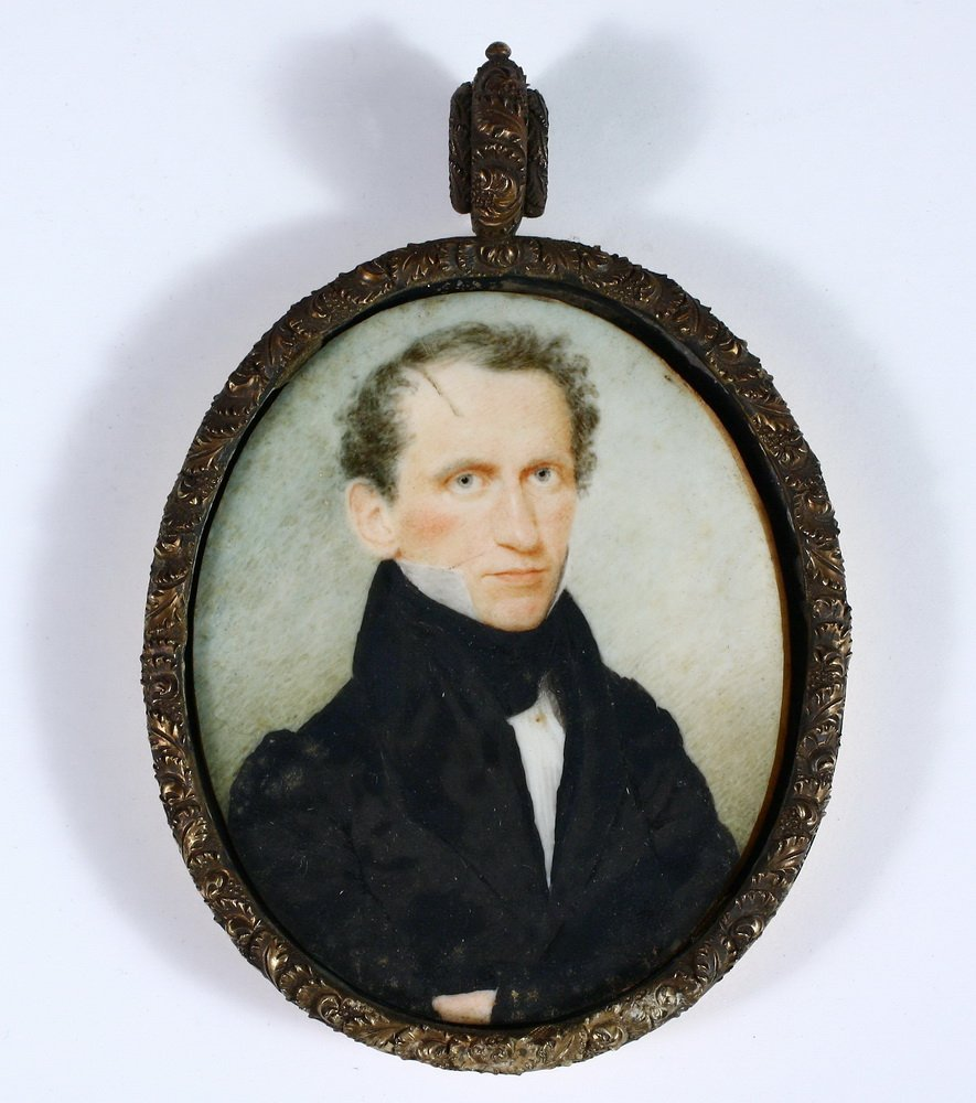 MINIATURE PORTRAIT - Watercolor on Ivory Bust Portrait