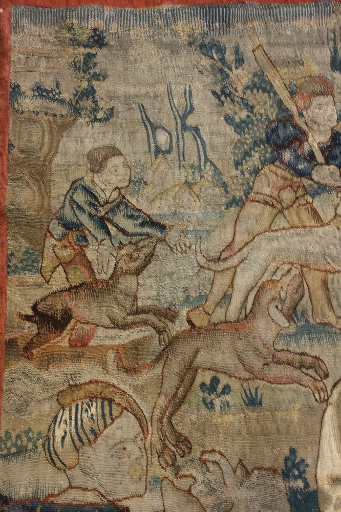 FLEMISH TAPESTRY - 17th c. Wool Tapestry depicting - 2