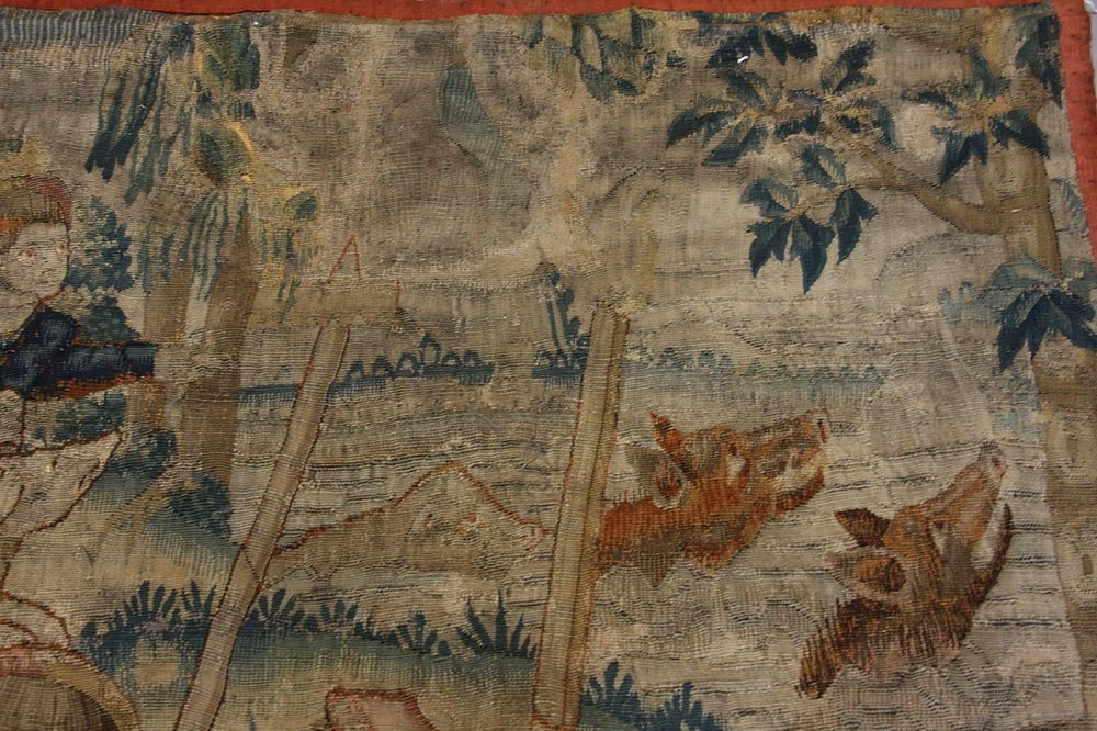 FLEMISH TAPESTRY - 17th c. Wool Tapestry depicting - 3