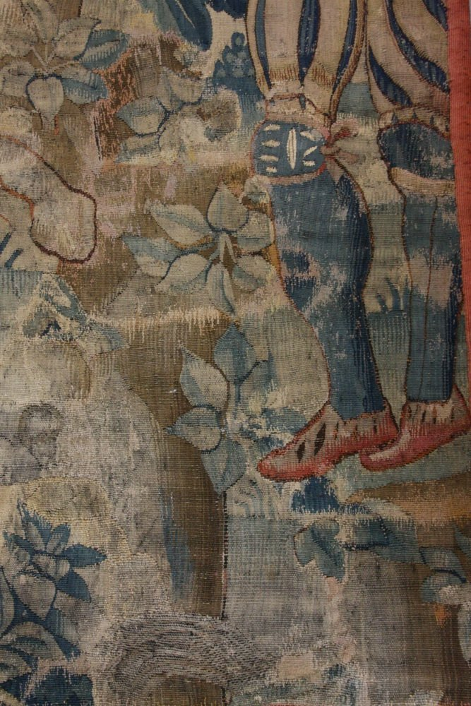 FLEMISH TAPESTRY - 17th c. Wool Tapestry depicting - 7