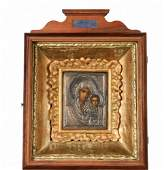 CASED IMPERIAL RUSSIAN ICON  19th c Large Icon of