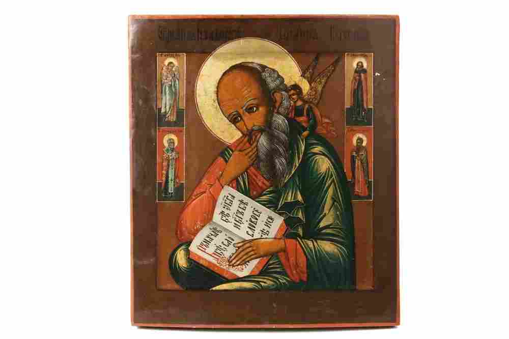 RUSSIAN ICON - Well Painted Icon of Saint John the