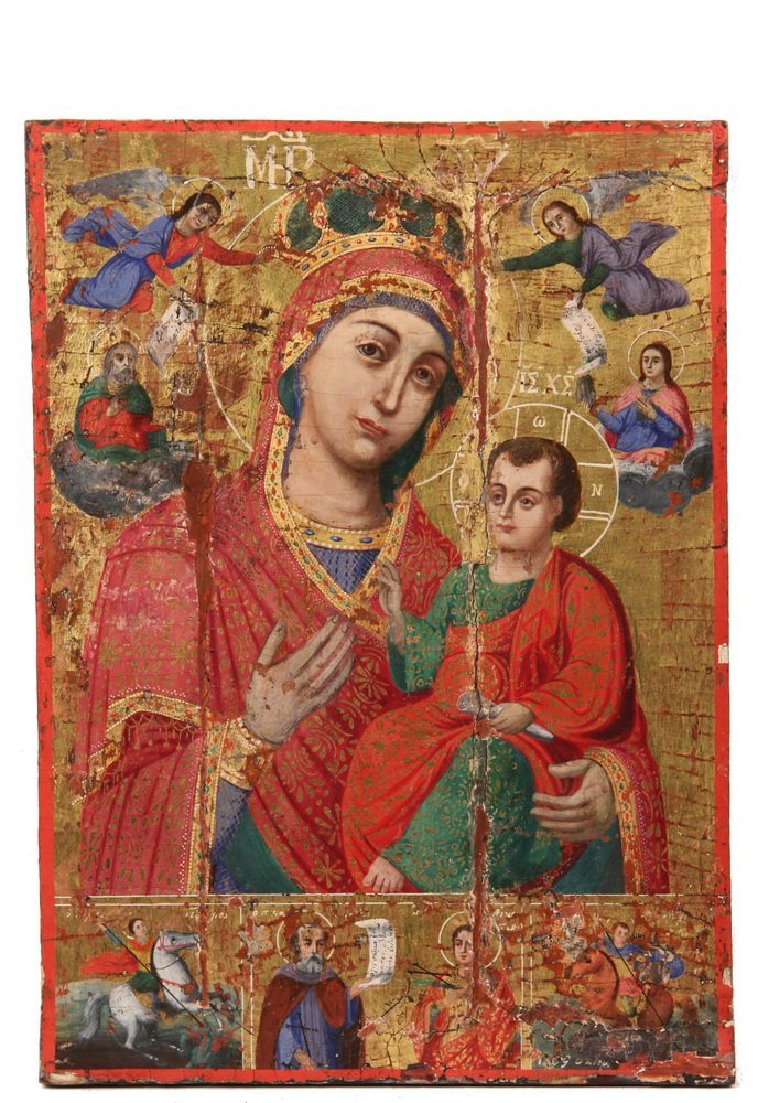 GREEK ORTHODOX ICON - Large Icon of the Virgin Mary