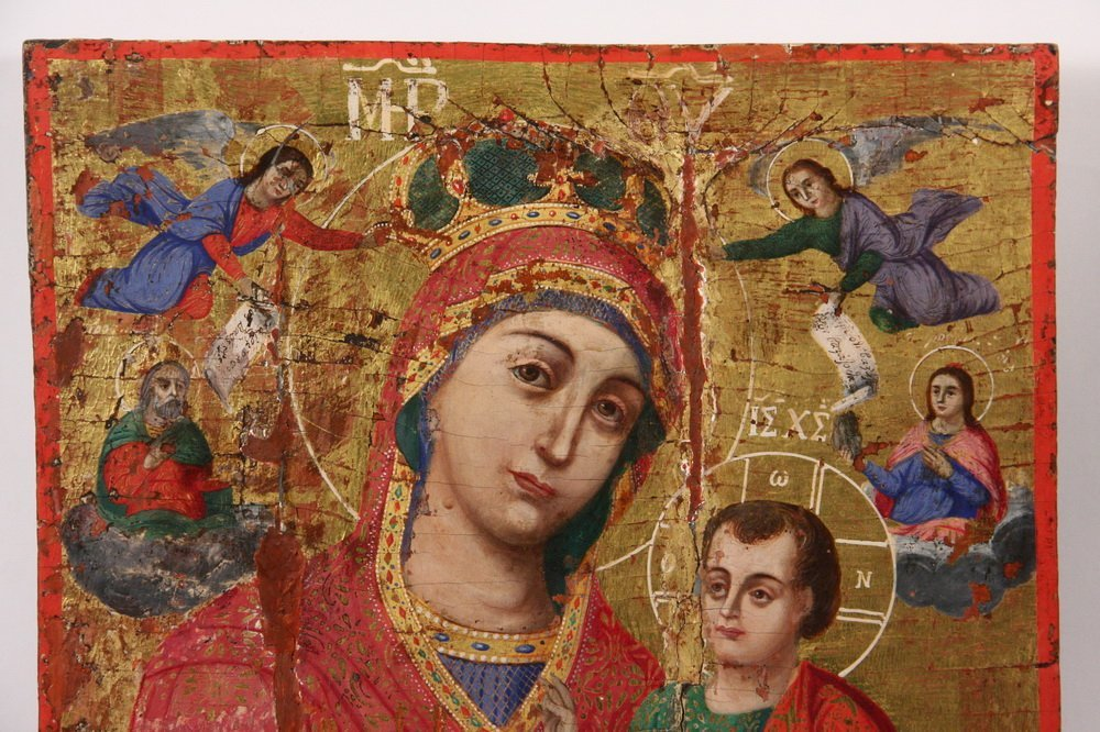 GREEK ORTHODOX ICON - Large Icon of the Virgin Mary - 2