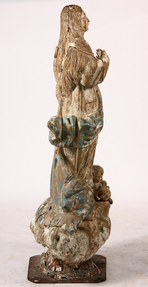 ECCLESIASTICAL STATUE - 17th c. Spanish Madonna - 4