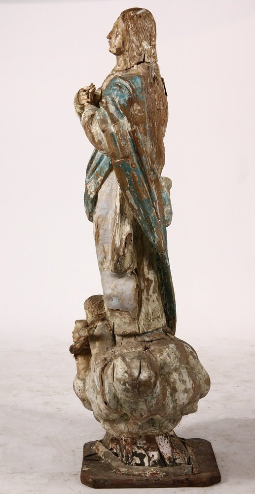 ECCLESIASTICAL STATUE - 17th c. Spanish Madonna - 6