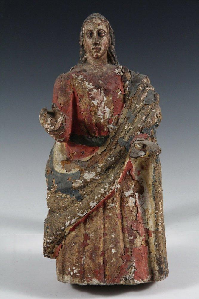 (5) SPANISH COLONIAL SANTOS - 19th c. Figures of Female - 8