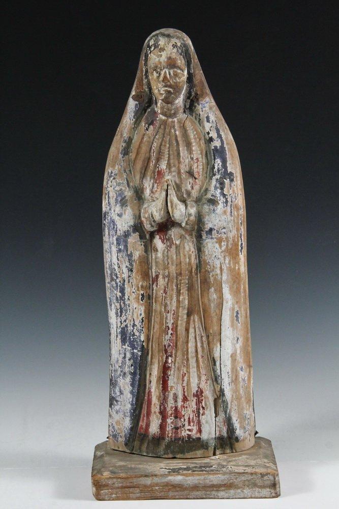 (5) SPANISH COLONIAL SANTOS - 19th c. Figures of Female - 2