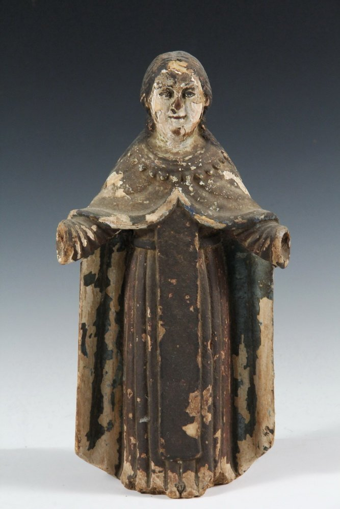 (5) SPANISH COLONIAL SANTOS - 19th c. Figures of Female - 4