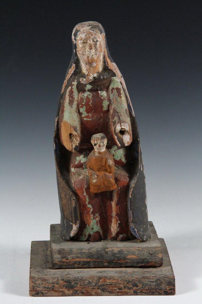 (5) SPANISH COLONIAL SANTOS - 19th c. Figures of Female - 5