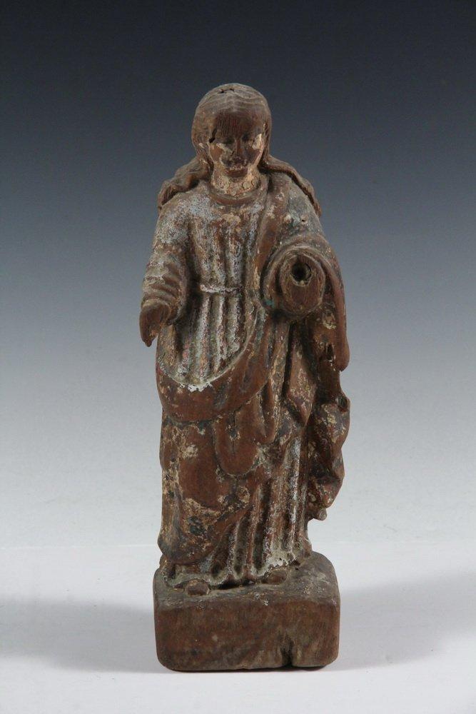 (5) SPANISH COLONIAL SANTOS - 19th c. Figures of Female - 7
