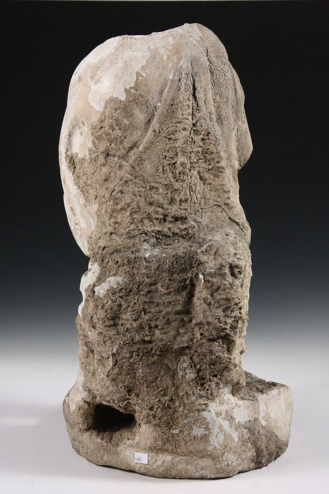 ANCIENT ROMAN FOUNTAINHEAD - Carved Marble Figure of a - 5