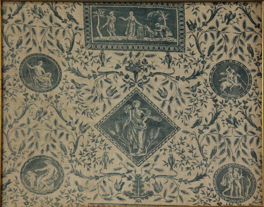 """(3) FRAMED FRENCH PRINT FABRICS - Rare Original """"Prints - 2"""