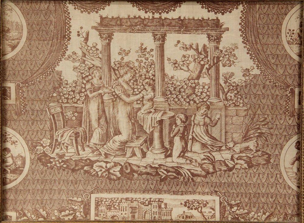 """(3) FRAMED FRENCH PRINT FABRICS - Rare Original """"Prints - 3"""