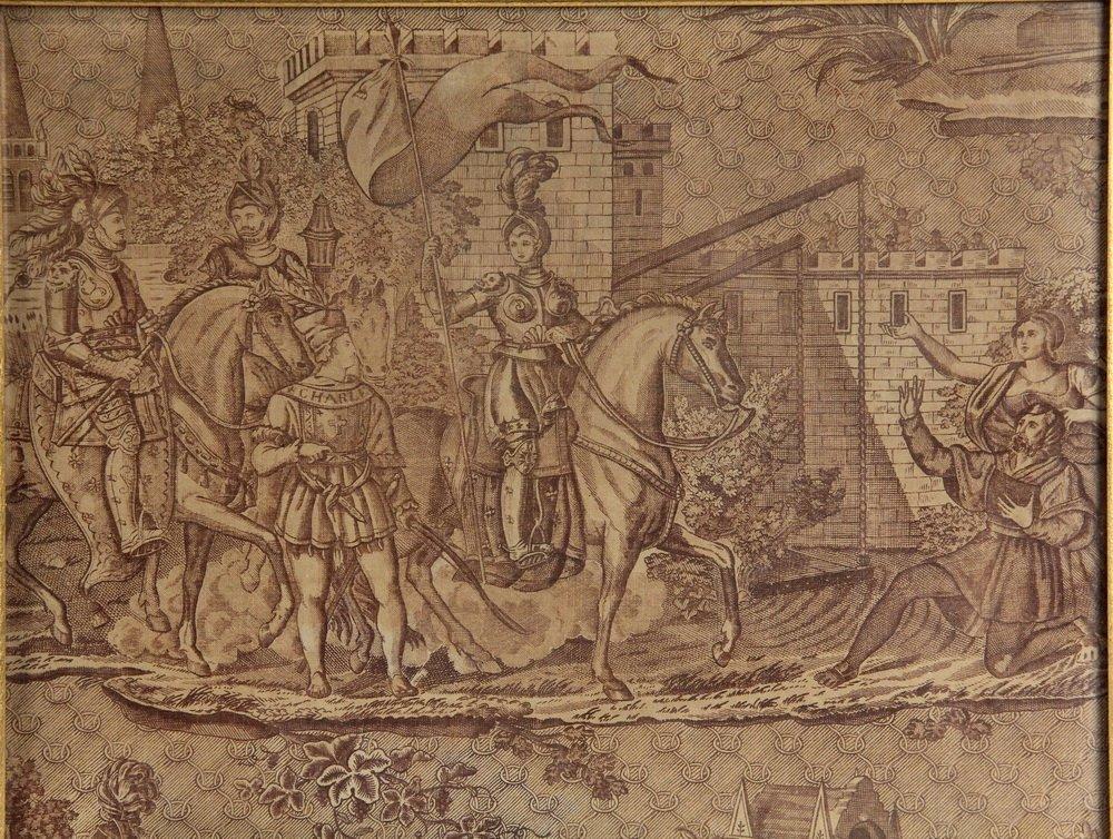 """(3) FRAMED FRENCH PRINT FABRICS - Rare Original """"Prints - 4"""