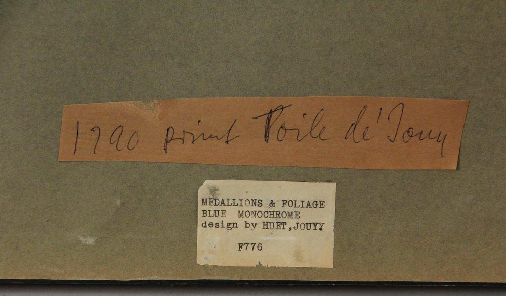 """(3) FRAMED FRENCH PRINT FABRICS - Rare Original """"Prints - 5"""