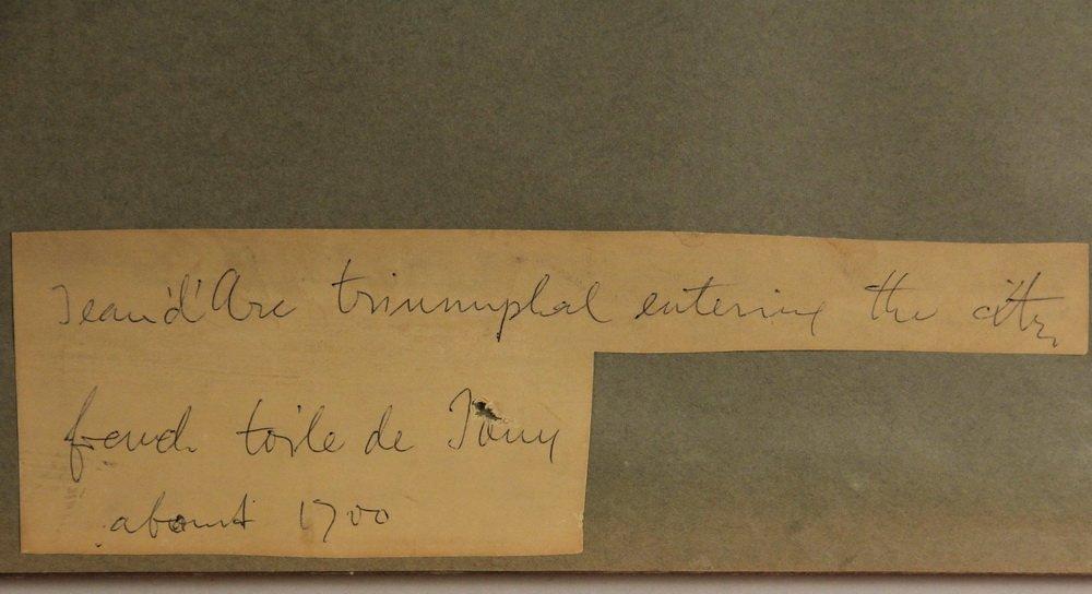 """(3) FRAMED FRENCH PRINT FABRICS - Rare Original """"Prints - 7"""