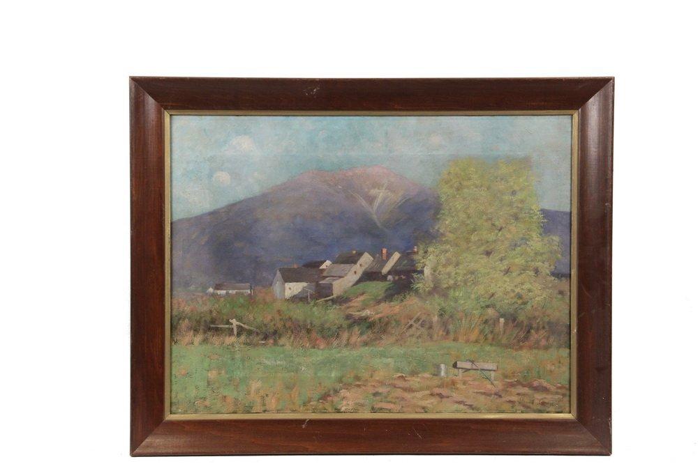 "DANIEL SANTRY (NH, 1858-1950) - ""View of Mt. Lafayette,"