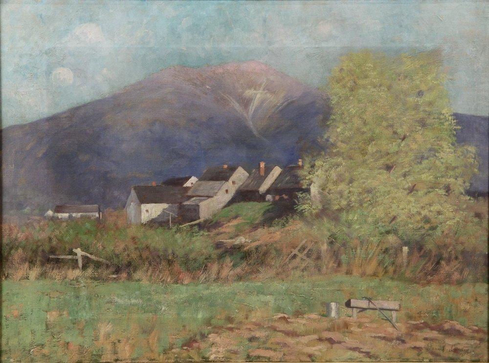 "DANIEL SANTRY (NH, 1858-1950) - ""View of Mt. Lafayette, - 2"