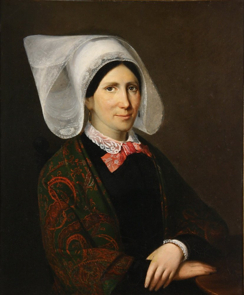 EARLY 19TH C. FLEMISH SCHOOL - Portrait of a Woman in - 2