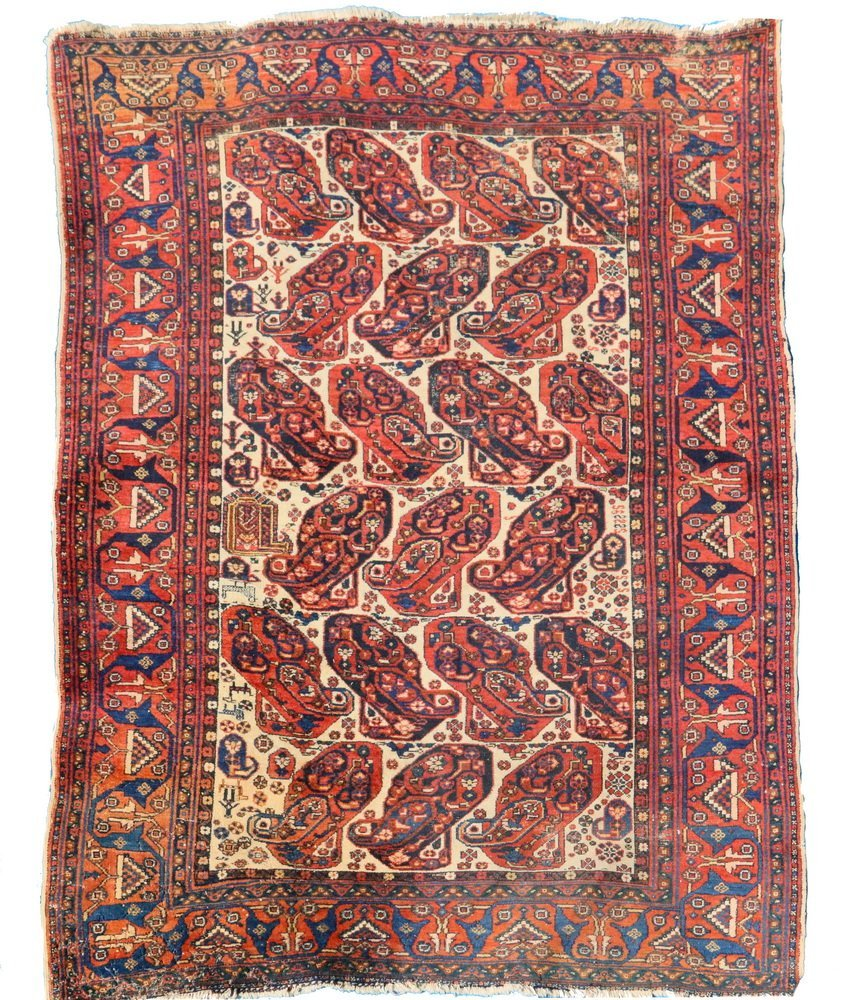 """NORTHWEST PERSIAN RUG - 4'5"""" x 6'2"""" - Early 20th c.,"""