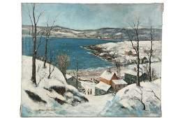 "JAMES WILLIAM ASHCROFT (MI/UK, 1899-1971) - ""Winter,"