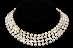 NECKLACE - Quadruple Strand Cultured Pearl Necklace