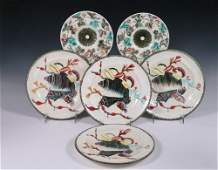 6 WEDGWOOD MAJOLICA PLATES  All marked including