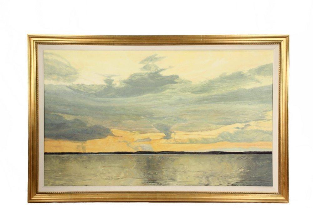 "CONLEY HARRIS (MA, 1943 - ) - ""Celadon Skies"", oil on"