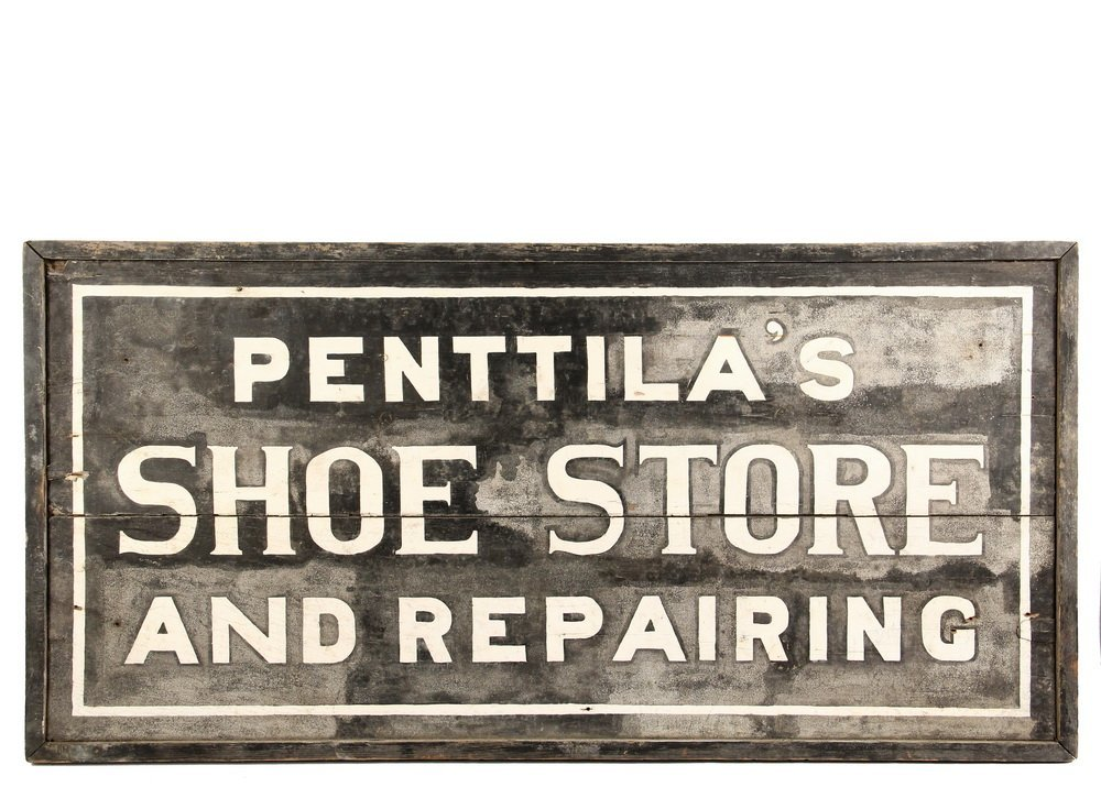 ADVERTISING SIGN - Early 20th c. Two-Sided Exterior