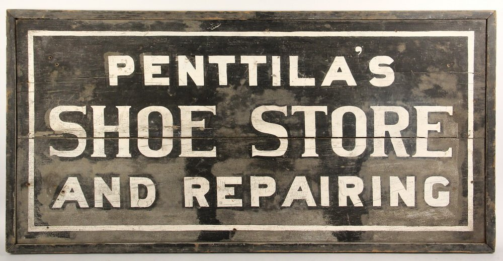 ADVERTISING SIGN - Early 20th c. Two-Sided Exterior - 2