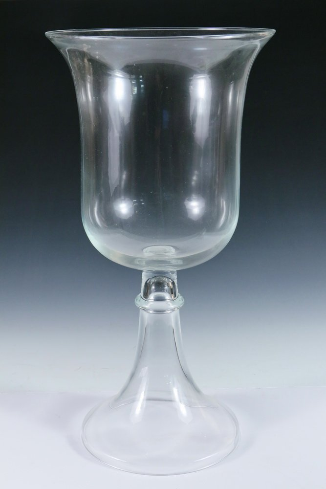 APOTHECARY JAR - Large Clear Glass Handblown Apothecary